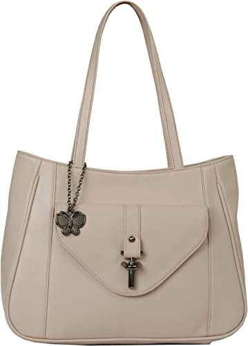 Women Texture Handbag Cream BNS 0669CRM