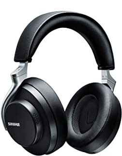 Shure AONIC 50 Wireless Noise Cancelling Headphones, Premium Studio-Quality Sound, Bluetooth 5 Wireless Technology, Comfort Fit Over Ear, 20 Hours Battery Life, Fingertip Controls - Black