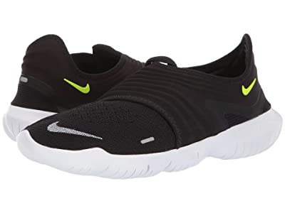 Nike Free RN Flyknit 3.0 (Black/Volt/White) Men