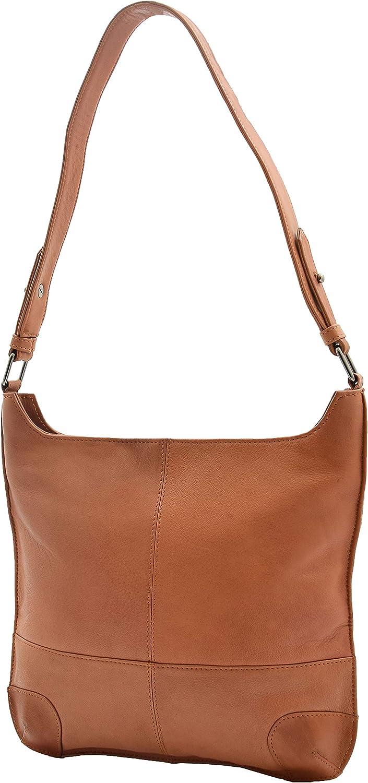 Genuine Leather Shoulder Hobo Bag For Women Slim Zip Top Handbag Ava
