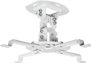VIVO VIVO جهاز عرض السقف الأبيض القابل للتعديل / حامل الإسقاط ممتد أذرع تثبيت (MOUNT-VP01W)