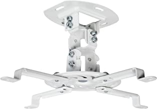 VIVO Universal Adjustable White Ceiling Projector, Projection Mount Extending Arms Mounting Bracket (MOUNT-VP01W)