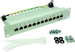 BIGtec - Panel patch (Cat.5 y Cat.6) Cat 6a, 12 puertos, 10 pulgadas