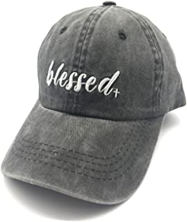 Waldeal Embroidered Blessed Women Men Adjustable Distressed Dad Hats Faith Thankful Baseball Cap