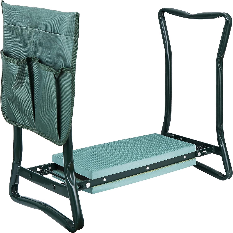 Oteymart Garden Kneeler Bench Kneeling Port Cushioned Max 90% Superlatite OFF Steel Seat