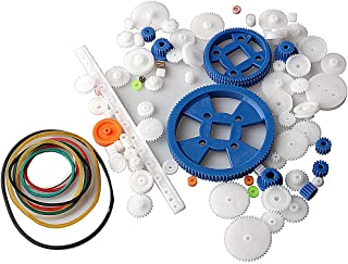 Coogain Plastic Gear Set, DIY Robot Rack Gear Kit Gearbox Motor Gear Set for DIY Car Robot Project