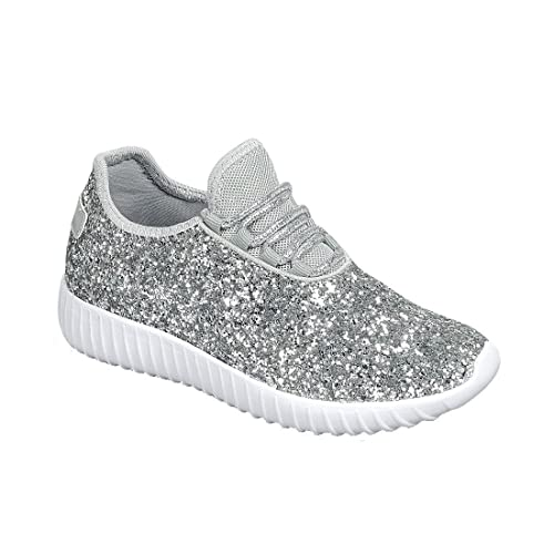 on sale 83942 363a5 Link Lace up Rock Glitter Fashion Sneaker For Children Girl Kids