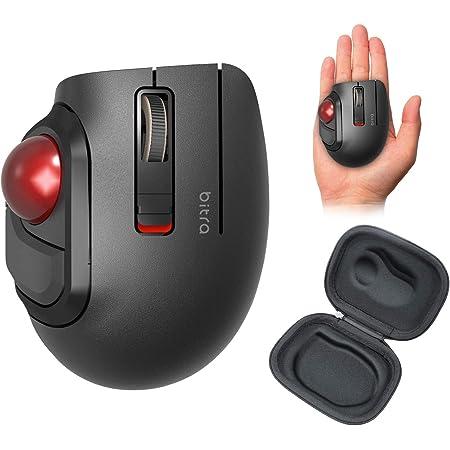 エレコム マウス Bluetooth (iOS対応) トラックボール Sサイズ 小型 親指 5ボタン 静音 ブラック M-MT1BRSBK