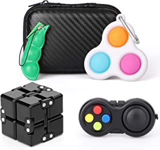 Fidget Pad,Infintiyc Cube,Fidget Toys Set, Push Pop Bubble,Sensory Toys Set Fidget Toy Autism Special Needs Stress Relieve...