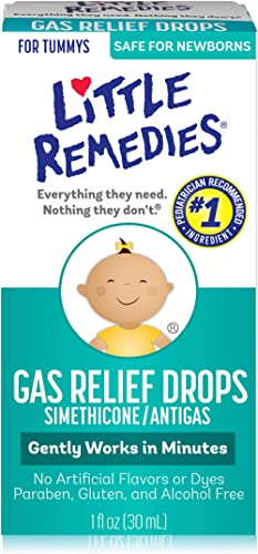 Little Remedies Gas Relief Drops | Natural Berry Flavor | 1 oz. | Pack of 1 | Gently Works in Minutes | Safe for Newb...