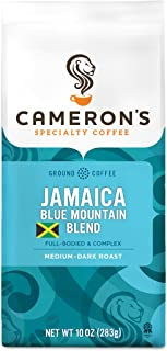 Cameron's Coffee Roasted Ground Coffee Bag, Jamaican Blue Mountain Blend, 10 Ounce