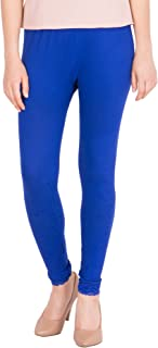American-Elm Women's Ankle length Cotton Viscose Legging- Blue