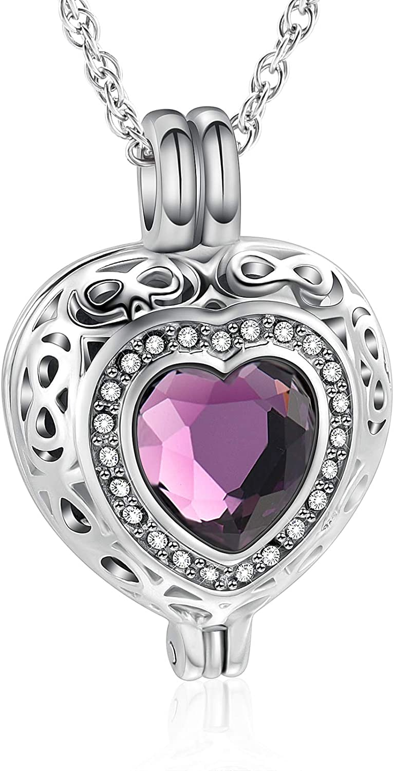 shajwo Cremation Max 52% OFF Jewelry Heart Urn for Ashes discount Necklace Women