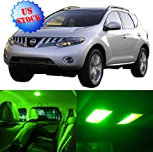 SCITOO LED Interior Lights 14pcs Green Package Kit Accessories Replacement for 2009-2014 Nissan Murano
