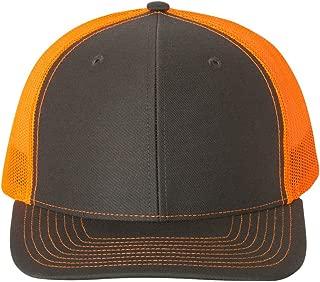 RICHARDSON 112 Mesh Back Trucker Cap Snapback Hat, Dark Green/White