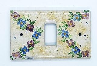 Placchette Bticino Magic Fiori di Nina Ceramica Handmade Le Ceramiche del Castello Made in Italy