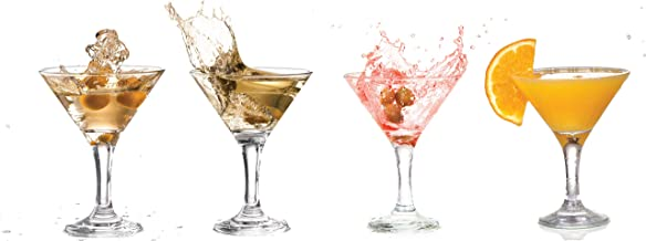 Set of 6 with Bonus FDL Picks Libbey 8882 Art Deco 4.5 oz Martini Glass