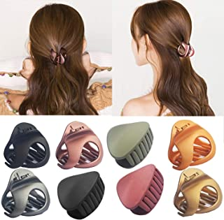 Hair Claw Clip Mix Colors,8 Pcs Hair Clips Non Slip Simple Vintage For Women Girls,Claw Clips Hair Accessories