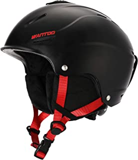 Wantdo Ski Helmet Snow Sports Helmet for Men Women- Airflow Climate Control,Fit Adjustable,Goggles Compatible,Inner Padding and Earmuffs Removable,Safety-Certified Snowboard Helmet
