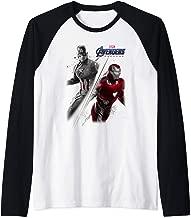 Marvel Avengers Endgame Captain America Iron Man Poster  Raglan Baseball Tee