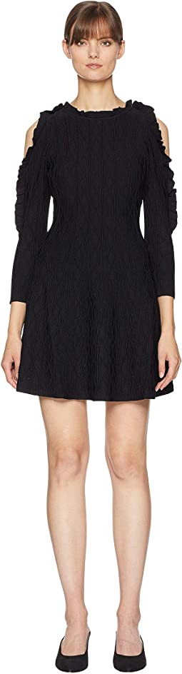 Open Shoulder Knitted Dress