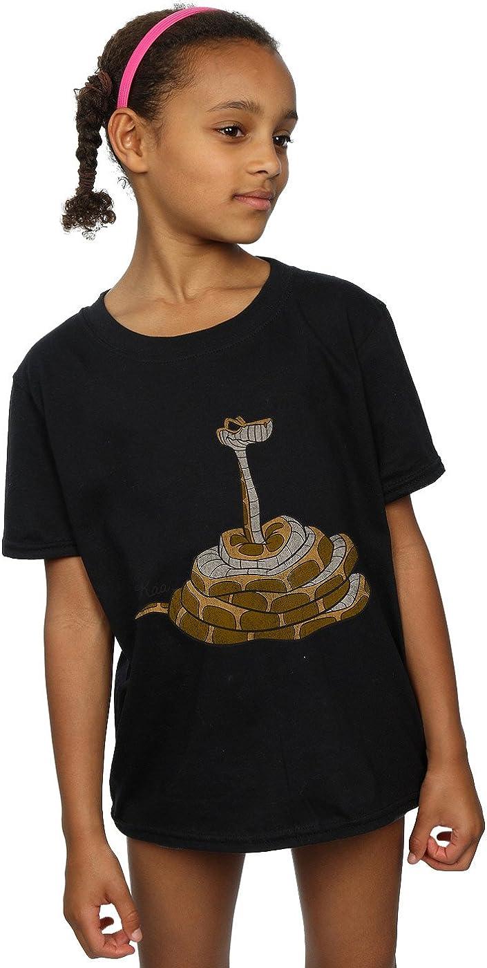 Disney Girls The Jungle Book Classic Kaa T-Shirt 5-6 Years Black