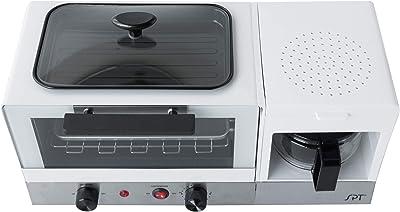 SPT BM-1120W 3-in-1 Breakfast Maker, Stainless Steel & White, WHITE