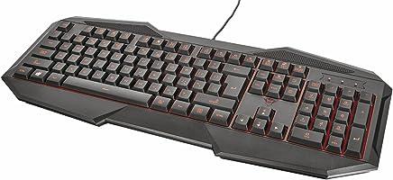 Trust GXT 830 Tastiera da Gioco con Layout Integrale, Illuminazione a LED, 12 Tasti Multimediali - Trova i prezzi più bassi