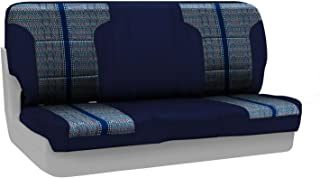 Coverking Custom Fit Front Solid Bench Seat Cover for Select GMC Sonoma Models - Saddleblanket (Dark Blue with Neosupreme Navy Blue Sides)