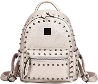 Punk Aancy Style Rivet Backpack Female Famous Womens Backpack Pu-Leather Shoulder School Bag Bagpack