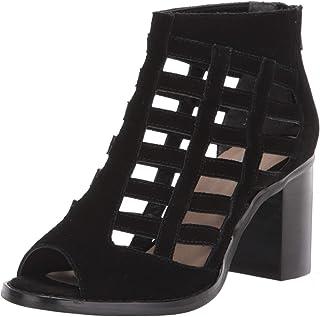 Sbicca womens Cage Heeled Sandal, Black, 7 US