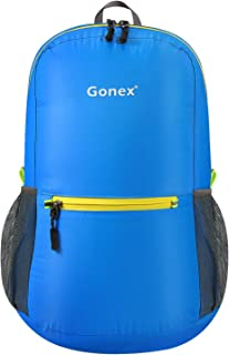 Gonex Ultralight Handy Travel Backpack,Water Resistant Packable Backpack Daypack Lightweight Foldable Camping Outdoor Travel Cycling School Backpacking 20 Liters 8 Color Choices
