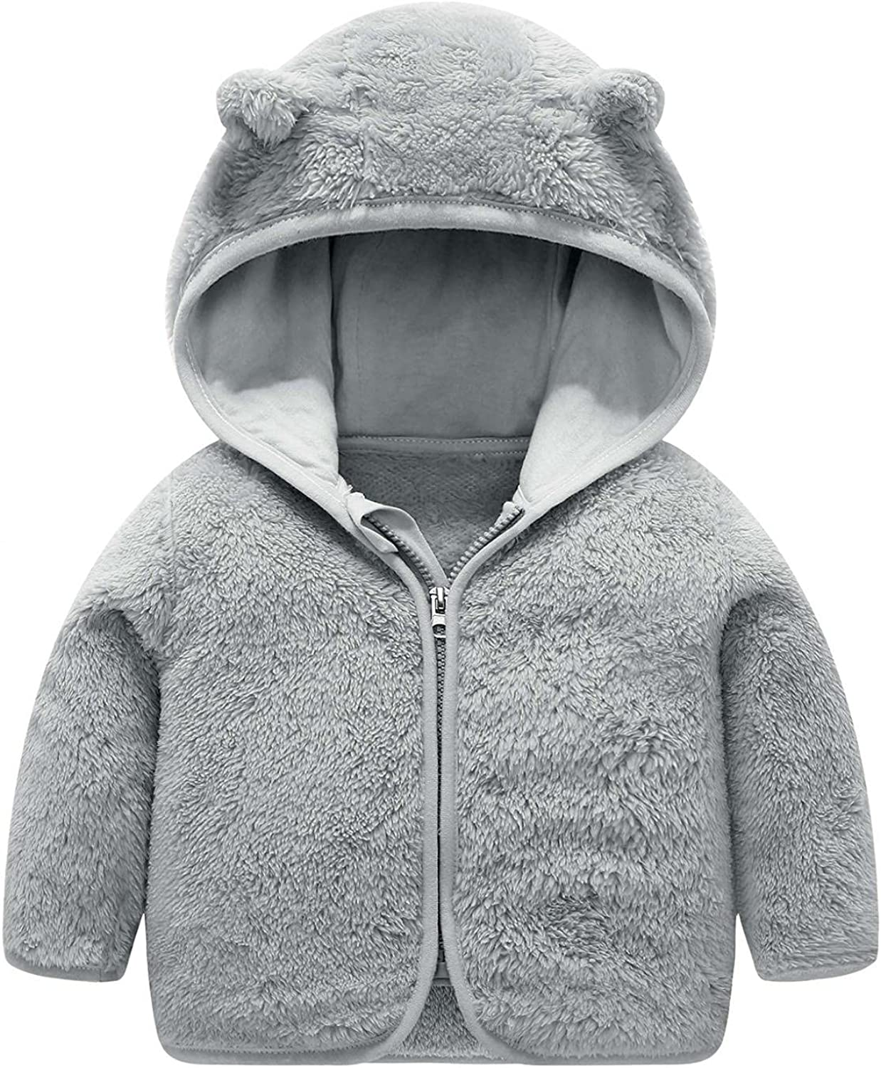 Toddler Polar Fleece Jacket with Lined Hooded Ranking TOP16 Don't miss the campaign Up C Zipper