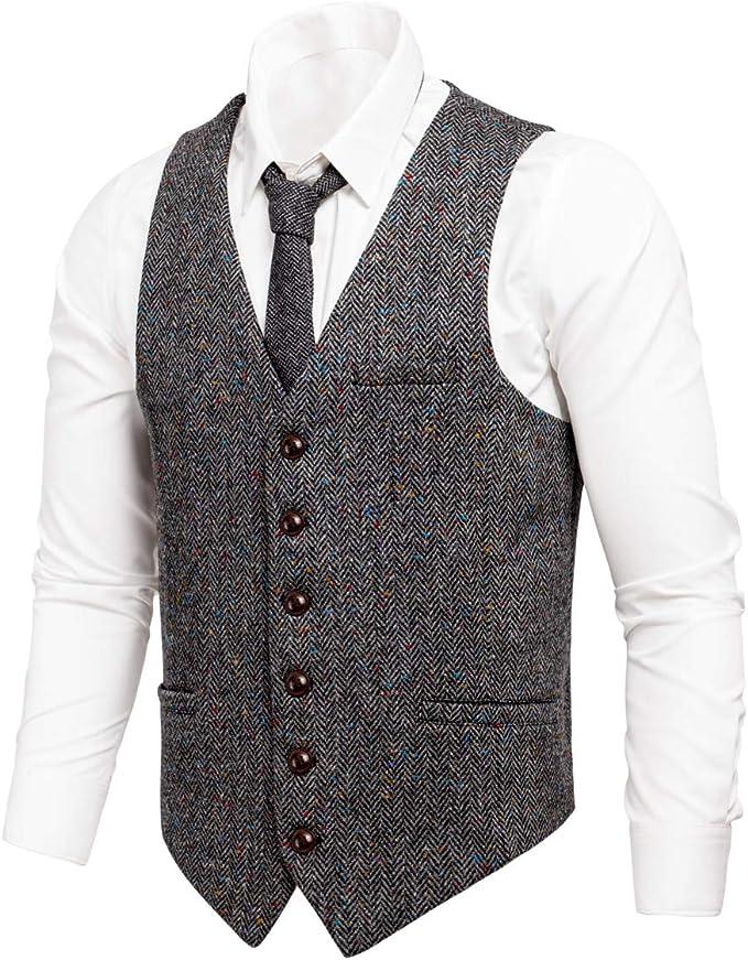 Anzug grau slim fit mit weste