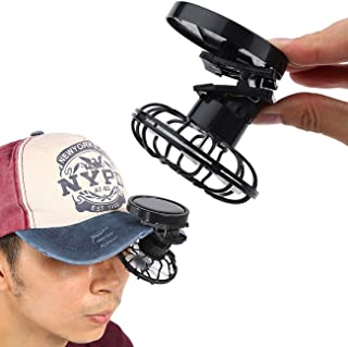 JUBILATE Summer Portable Mini Solar Powered Clip Fan Must-Have Hat Cap Fine Good for Mountain Climbing, Camps and Wilderness Survival