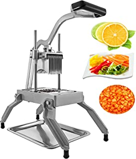 Happybuy Commercial Vegetable 0.19 inches Chopper Dicer Stainless Steel Blade Replaceable Kattex Tomato Slicer with Tray, 3/16