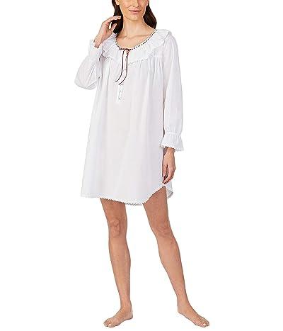 Eileen West Cotton Lawn Woven Nightshirt (White) Women