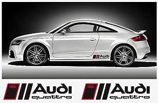 Audi QUATTRO 46cm side decal decal set (black Ð red)