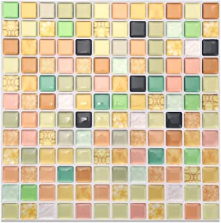 XXT 3d mosaik kakel flyttbar tapet kakel självhäftande väggplattor, kök baksplash orange badrum