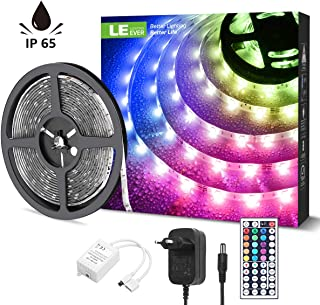 LE Tira Luz RGB 5M, Tira LED 150 SMD 5050, Multicolor y Regulable, Tira Luces LED RGB con 20 Colores 8 Modos, Control Remoto de 44 Teclas 12V 5A, Tiras LED TV para Navidad, Halloween, fiestas y Bodas