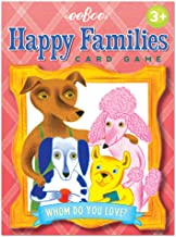 eeBoo Happy Families Card Game for Kids