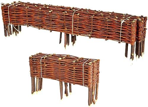 BooGardi Clôture en bois de saule pour bordure de plate-bande, de chemin Plusieurs dimensions 20 x 120 cm 10er ...