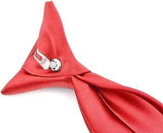 Moda Di Raza - Boy's NeckTie Solid Clip on Polyester Tie - Boys' Kids' Children's Solid Color Boys Formal Wear Pre-Tied Polyester Clip Necktie - Coral Rose/11