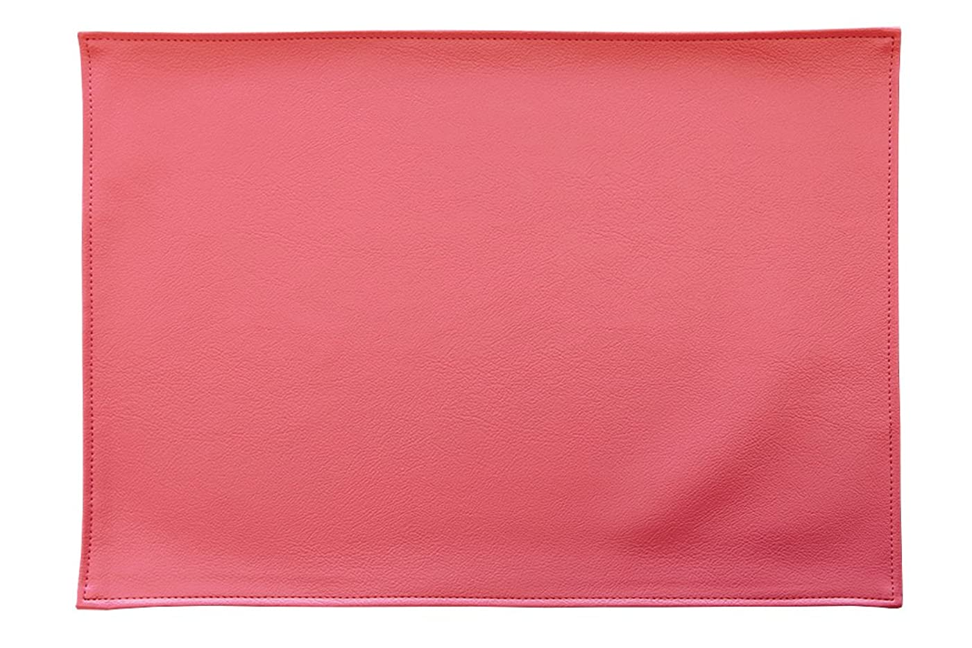 スズメバチオリエント極めて重要なTEES FACTORY 国産 PVC レザー ランチョン プレース マット LEKKU ピンク