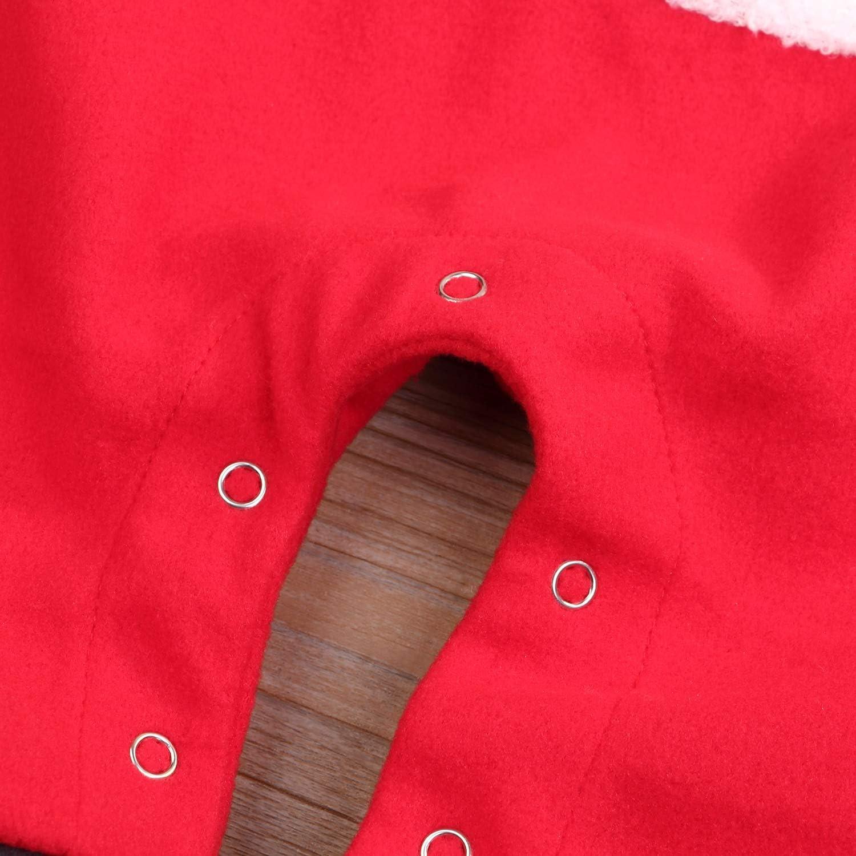 Kids Newborn Baby Boys Girls Outfit Cute Red Nose Reindeer Romper Jumpsuit Bodysuit Set