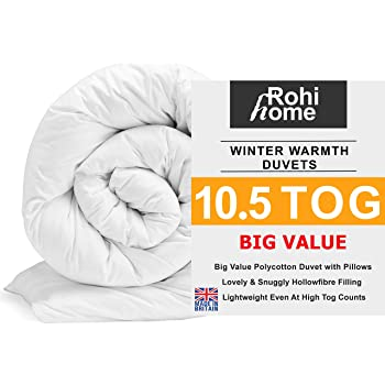 10.5 Tog Corovin Duvet Anti Allergy Hollow fiber Quilt Single to Super King size