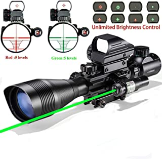 Scope Combo C4-16x50EG with Laser and 4 Holographic Red&Green Dot Sight