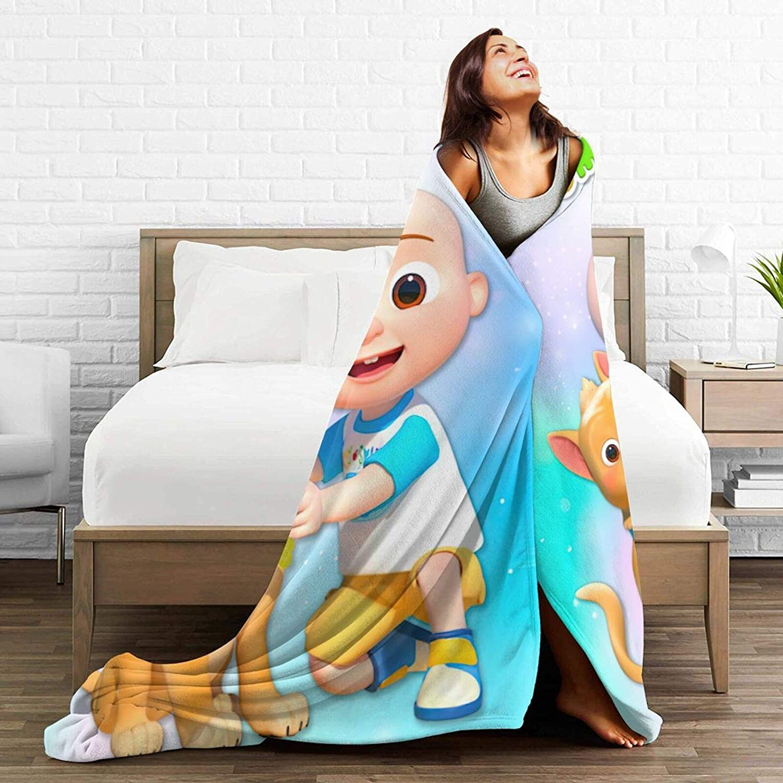 Throw Blanket Flannel Lightweight Blankets Super Ultra Soft Cozy Bed Blankets Sofa Blanket Black 50x40 for Kids