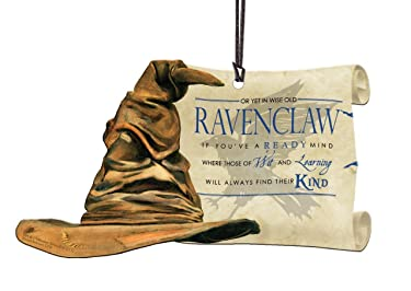 Trend Setters Harry Potter Sorting Hat - Ravenclaw - Shaped Acrylic Hanging Print Decoration with Hogwarts House Quote Poem