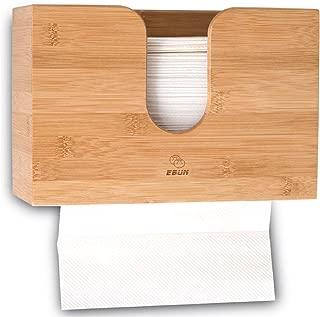 Multifold Paper Towel Dispenser | Bathroom Hand Towel Dispenser Wall Mount Countertop | Trifold, C Fold Holder, Commercial Restaurant Napkin, Tissue | Bamboo